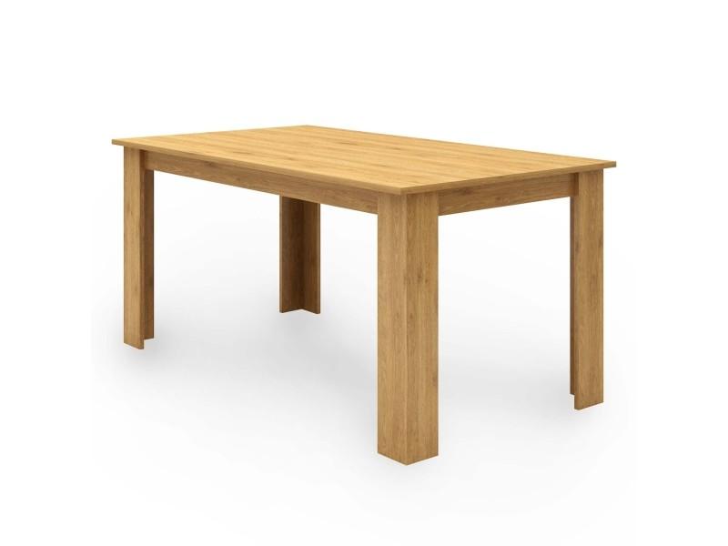 table a manger en bois couleur chene 6 personnes darren