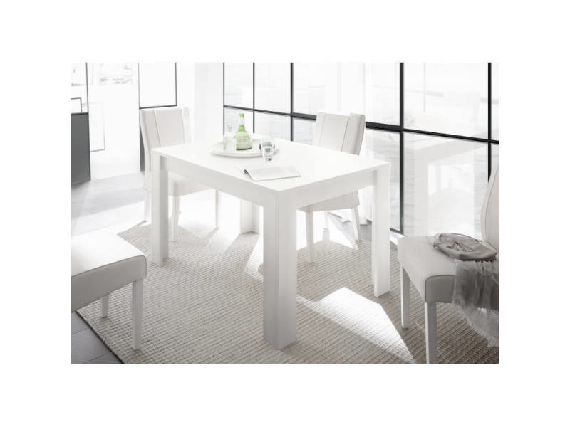 table de salle a manger contemporaine charlie coloris blanc