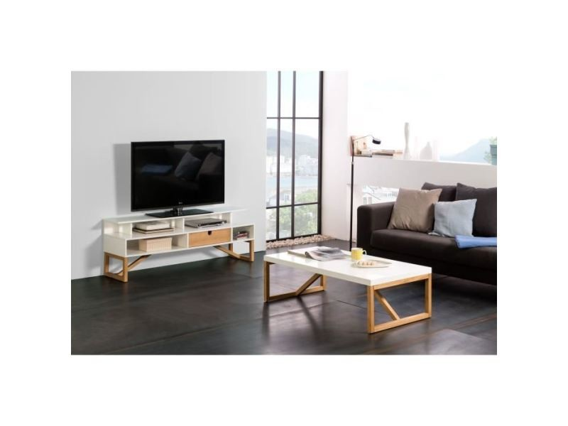 living meuble tv mural complet alia