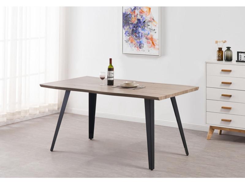 stockholm table a manger style scandinave coloris noyer salle a manger cuisine