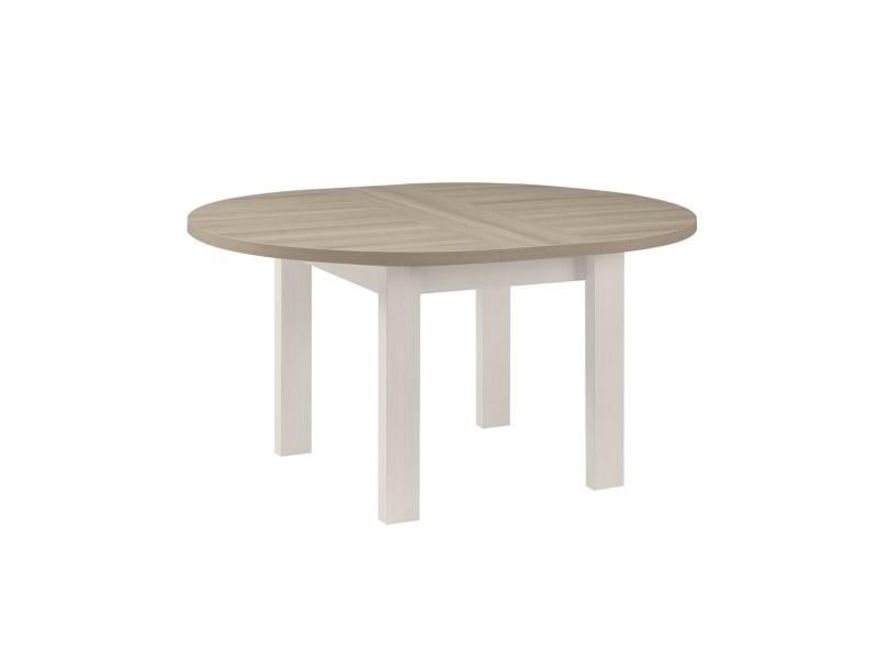 Table A Manger Ronde Avec Allonge Incluse Fabrication Francaise Vente De Calicosy Conforama