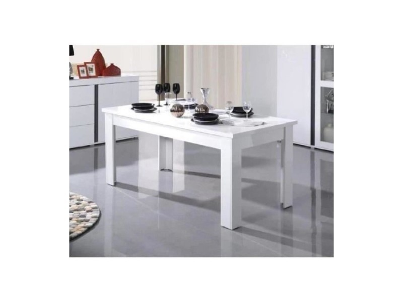 table blanche laque