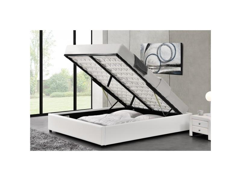 lit kennington structure de lit blanc