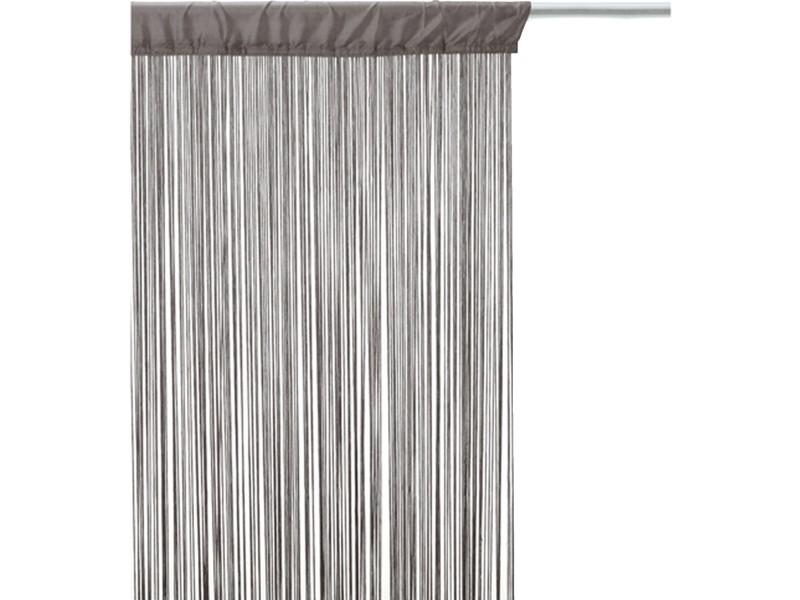 rideau fils 90 x 200 cm gris