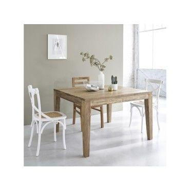 Table Carre En Chene Avec Allonge Vente De Table Conforama