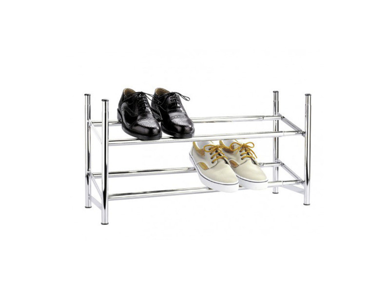 etageres a chaussures en chrome extensible pegane