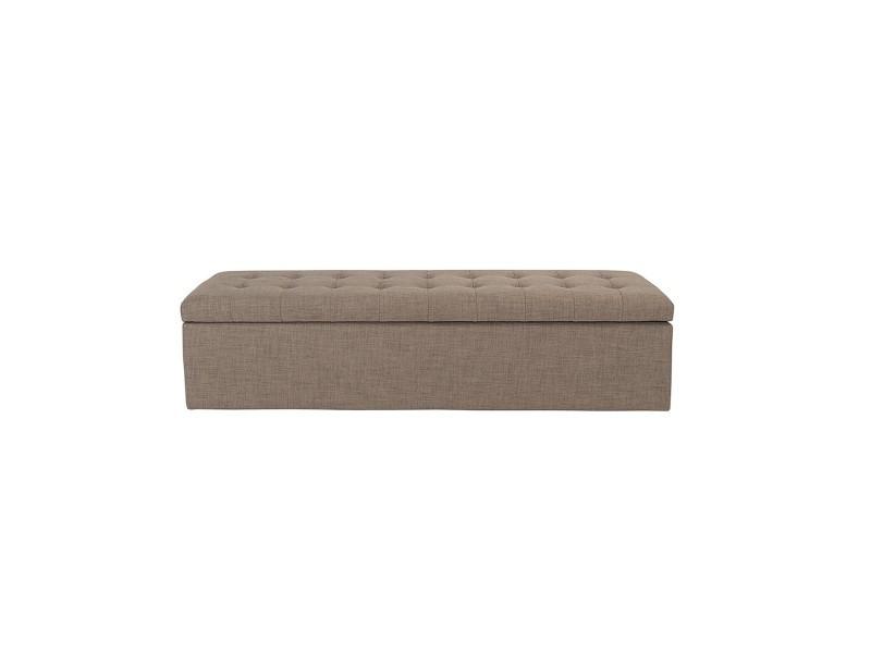 banc coffre en bois avec revetement