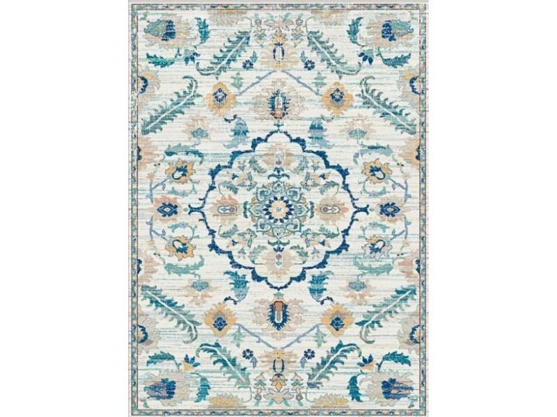 tapis antep bleu 50x80cm