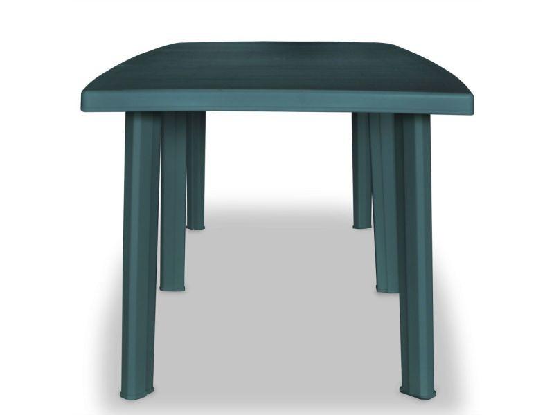 icaverne tables d exterieur edition table de jardin 210 x 96 x 72 cm plastique vert