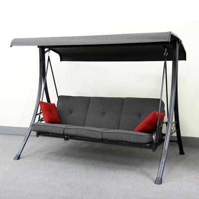 hampton bay 3 person futon swing yp ca