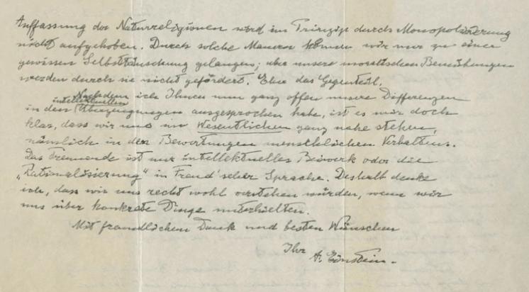 """Carta de Dios"" de Albert Einstei"