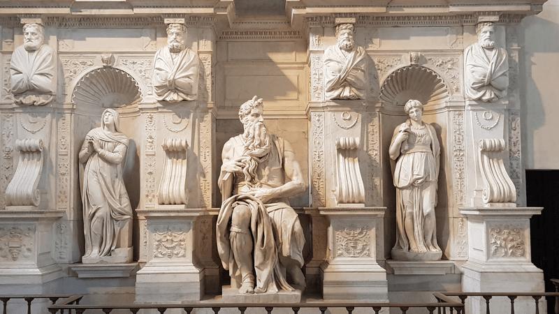 """el moises de miguel angel 3 - ¿Por qué tiene dos cuernos el """"Moisés"""" de Miguel Ángel?"""