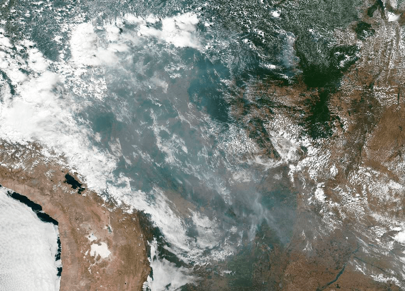 NASA Amazona Brasil incendios forestales
