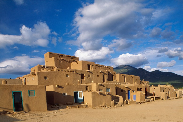Centro de Taos, Nuevo México foto panoramica