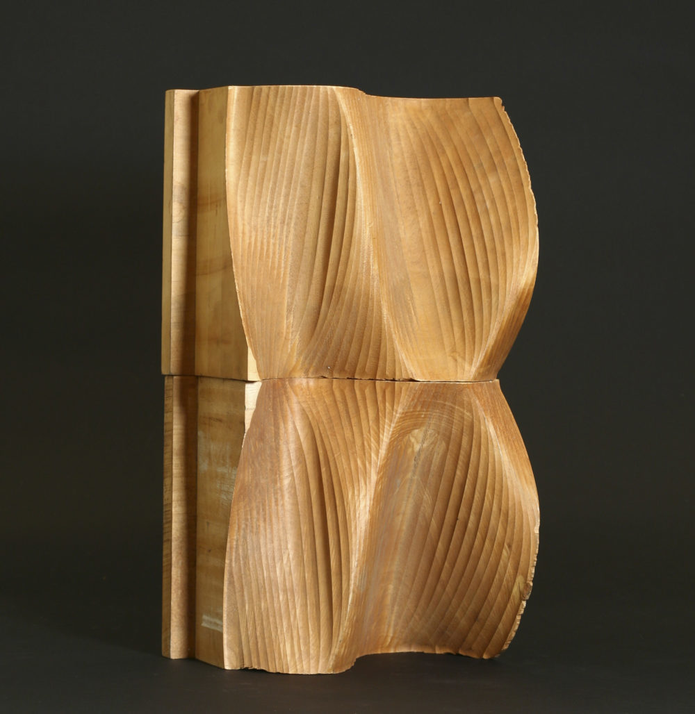 Charles Csuri, Numeric Milling, Wood,  3-Axis Milling Machine, 33 x 56 x 22 cm, 1968