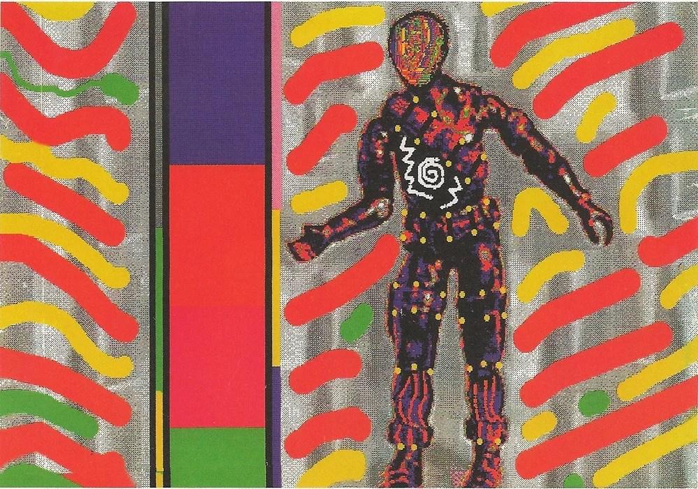 Laurence Gartel, Spaceman, Amiga inkjet print, 25 x 30 cm, 1987