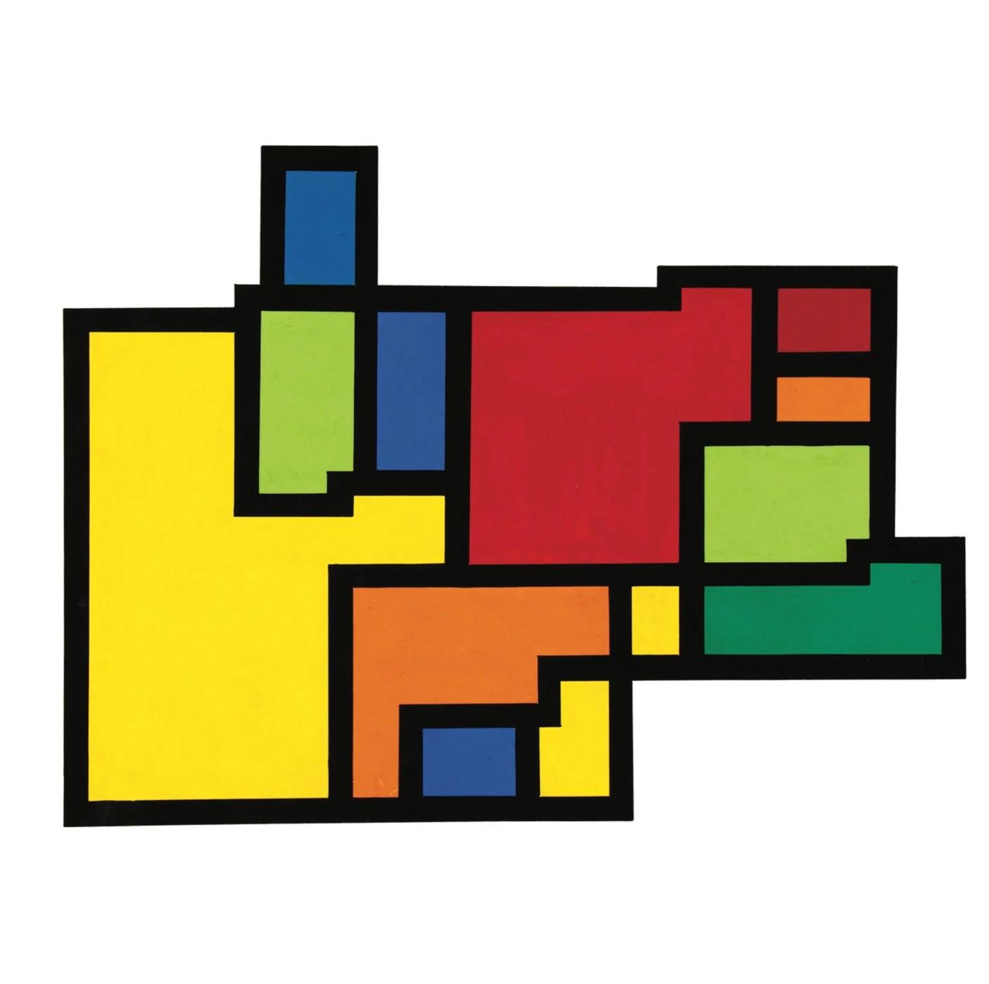 Hiroshi Kawano, Artificial Mondrian, painting - computer generated, 1966