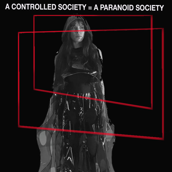 Lynn Hershman Leeson, Shadow Stalker. 2018-2021. Archival print from film still.
