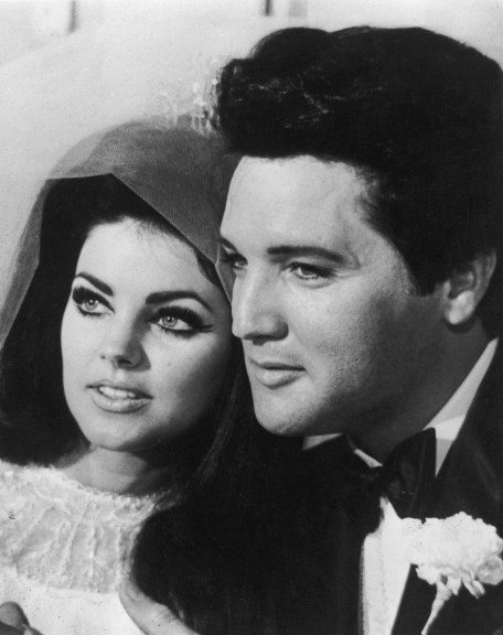 Priscilla and Elvis Presley on their wedding day.  Two hotties!  (Photo: Getty Images)