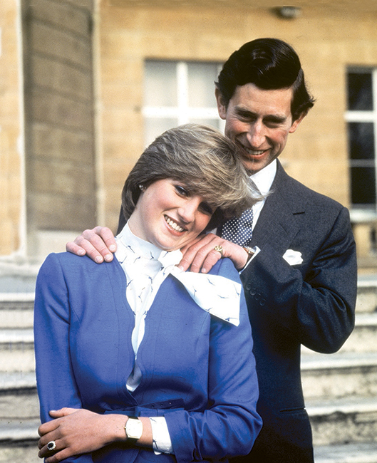 Diana y Carlos el día de su compromiso