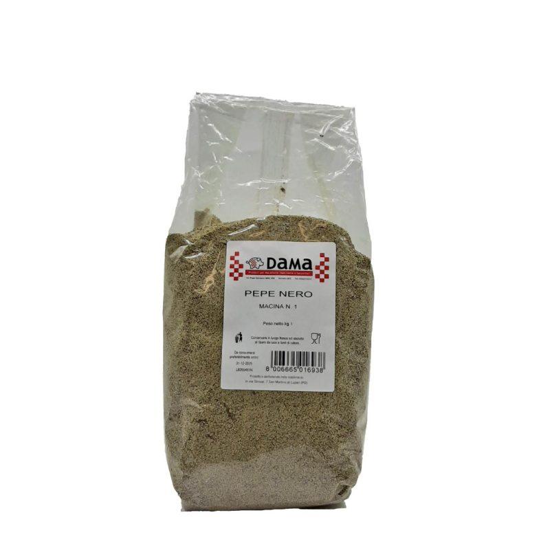 Pepe nero in polvere per salumi e salmistrati - Confezioni da 100 gr a 1 kg