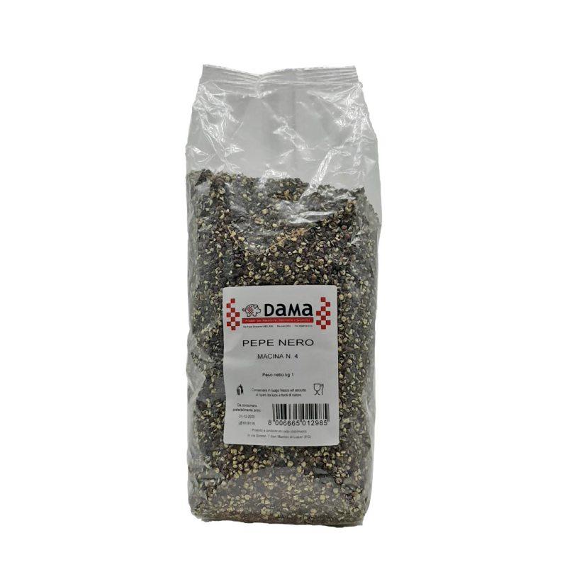 Pepe nero 1/4 di grana per salumi e salmistrati - Confezioni da 100 gr a 1 kg