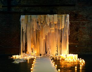light of joy wedding decor
