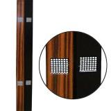 Дървена лента - черна - дължина 60 см, кафява - дължина 50 см, широчина 6 см