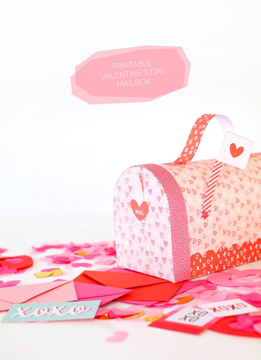 Printable Valentine S Day Mailbox