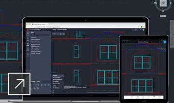 Disegni in AutoCAD visualizzati su desktop e dispositivi mobili