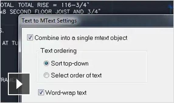 Film: Konwertuj kombinacje obiektów tekstowych i obiektów tekstu wielowierszowego na pojedynczy obiekt tekstu wielowierszowego.