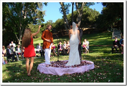 wedding in topanga canyon