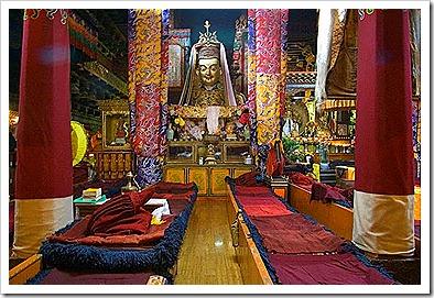 prayer rugs inside potala