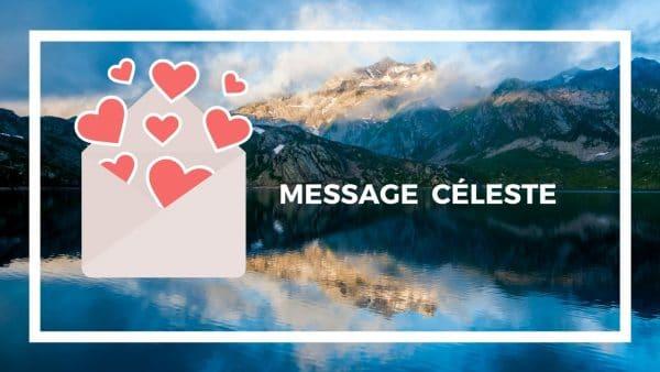 message céleste channeling courrier amour