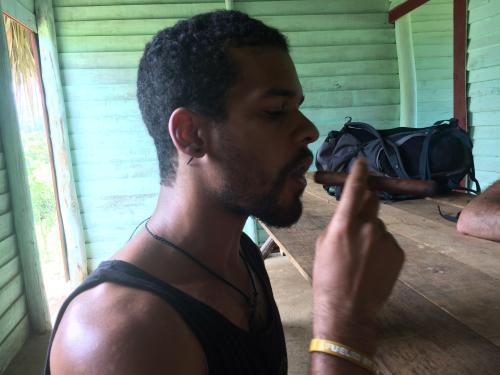 Discovering Cigars on Horseback in Viñales Cuba smoking cigar
