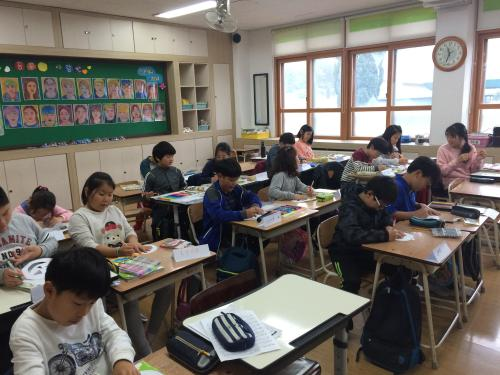korean students studying gangwondo