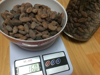 Weighing Peruvian Cacao July 2017