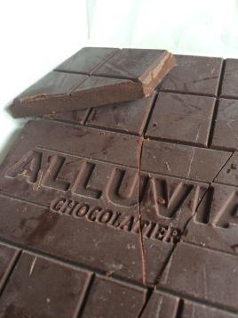 Alluvia Chocolatier Vietnamese Cacao Bean to Bar 100% Chocolate Close-up