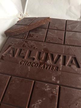 Alluvia Chocolatier Vietnamese Cacao Bean to Bar 70% Dark Chocolate Close-up