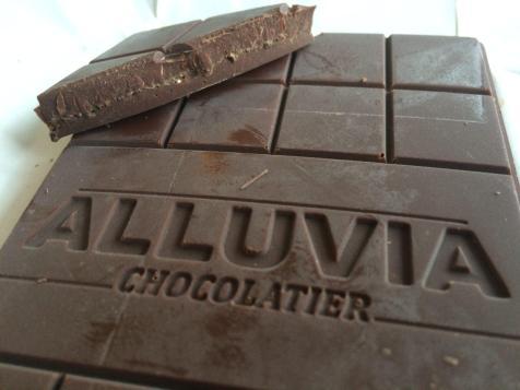 Alluvia Chocolatier Vietnamese Cacao Bean to Bar Dark Chocolate Cinnapepper Close-up