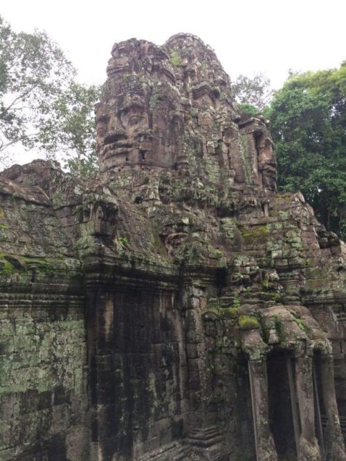 Angkor Wat Cambodia Siem Reap Path Stone Head Gate