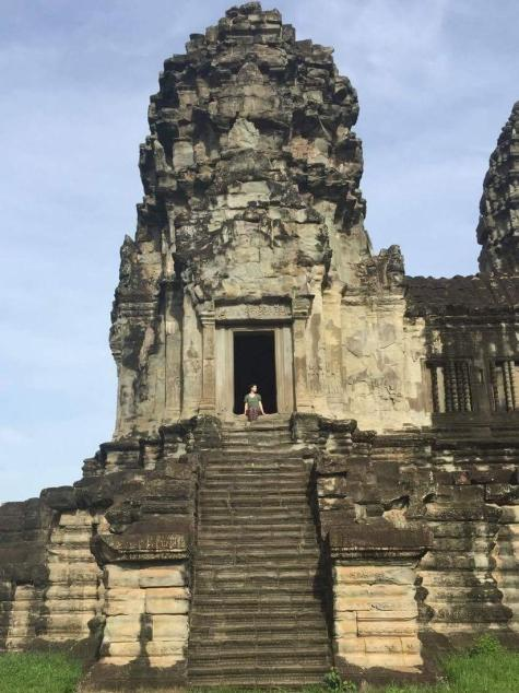Angkor Wat Path Cambodia Siem Reap Main Temple