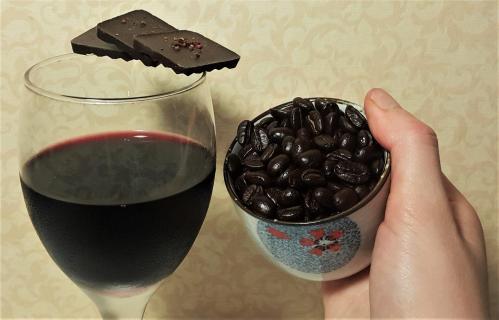 red wine coffee beans taiwanese chocolate