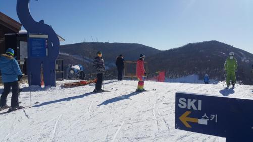 my boyfriend skiing high one resort jeongseon gangwondo south korea