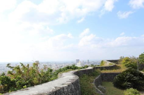 shuri castle gardens wall