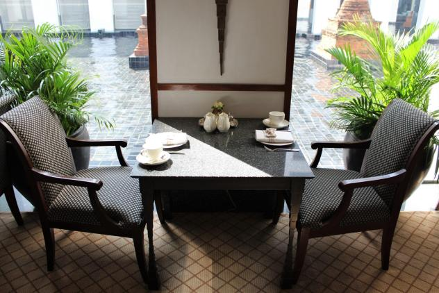 sukhothai lobby salon chocolate buffet table settings