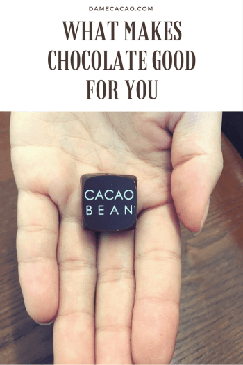 What Makes Chocolate Good for You Pinterest Graphic