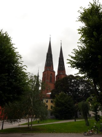 the cathedral from the university park