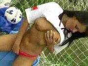 Česká fotbalistka v masturbační akci – české porno
