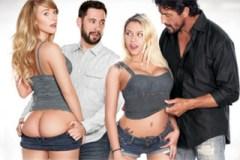 Harley Jade a Marsha May: Kámoši si vymění nevlastní dcery! – rodinné porno